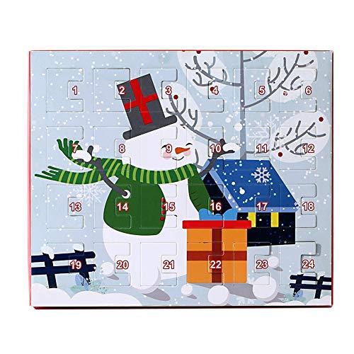 Angmile Joyería de Navidad Calendario de Adviento Set de regalo Novedad Navidad encantadora DIY Regalo para niñas Damas