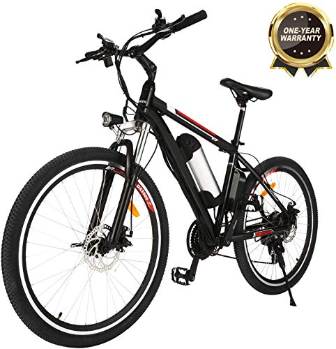 Speedrid Electric Mountain Bike with 26'/ 20' Wheel and 8AH Lithium-Ion Battery Electric Bicycle for Adult, Premium Full Suspension and 7/21 Speed Gear
