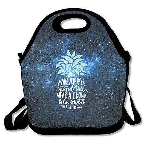 keben Bolsa de Almuerzo Bolsa de Asas, Be A Pineapple Stand Tall Bento Box, Bolsas de lonchera con Estilo único para niños Viajes y Escalada, 27.5x29x14.5cm