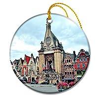 ベスーンフランスベスーンの鐘楼クリスマスオーナメントセラミックシート旅行お土産ギフト