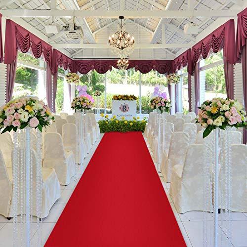 Healon Rot Hochzeit Teppich Läufer Hochzeitsläufer Hochzeitsteppich Hochzeitsdeko Eventteppich 100 x 3 Feet Wedding Runner Carpet Hochzeitsgeschenke Für Brautpaar