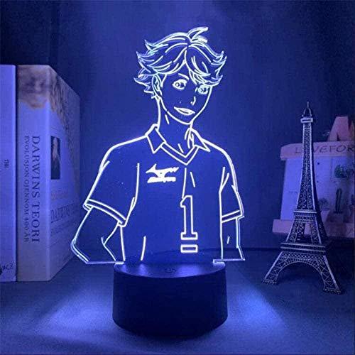Luz LED 3D de estado de ánimo, luz nocturna de Naruto para habitación infantil, lámpara de mesa, el mejor regalo para Navidad y cumpleaños