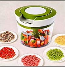 Ample New Handy Ring Plastic Chopper with 3 Blades-Cutter-Processor-850ML