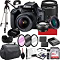Canon EOS 4000D DSLR Camera with 18-55mm f/3.5-5.6 Zoom Lens, 64GB Memory,Case, Tripod and More (28pc Bundle) from Paging Zone-Canon intl