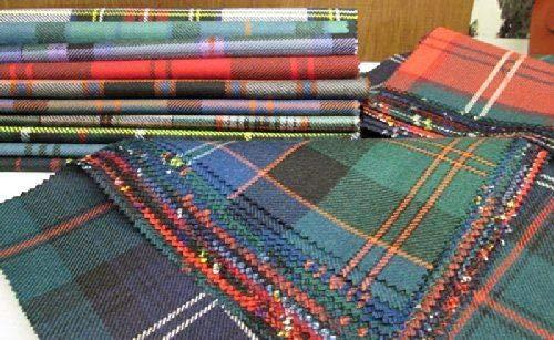 Tartan Patchwork 100% lana residua Offcuts quadrati 10 pezzi 23 cm