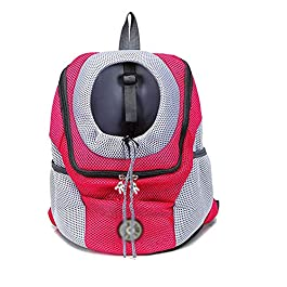 FHOMDOD Pet Backpack, Portable Backpack, Light and Breathable, Suitable for Outdoor Travel, Sightseeing, Camping and Hiking, Etc.