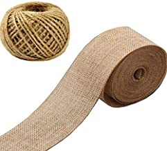 Burlap Ribbon,Craft Linen Ribbon Jute Twine Packing String Linen Yards Ribbon for Photos Crafts Wraping Gifts Party Weddin...