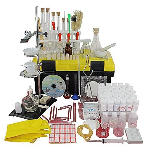 Mezclador magnético de laboratorio Horno eléctrico Caja de experimentos químicos de nivel de entrada Reactivo químico Conjunto completo Instrumento de vidrio para experimentos de química de secundaria