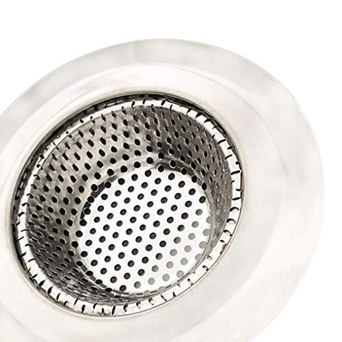 Yihaifu Fregadero de Acero Inoxidable colador del Filtro de Agua del tapón de Drenaje de Agua de Suelo tapón de Pelo Catcher tapón de la bañera Accesorios de baño
