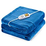 iTeknic Heated Blanket Electric Throw, 60'x 50' Flannel Electric...
