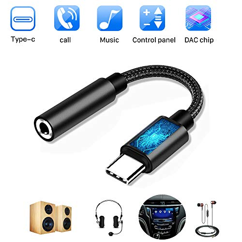 USB Tipo C Audio Adaptadores Auriculares de Jack 3.5 mm con Chipset DAC Hi-Res Widely Copara Huawei P20 Mate 20 Pro, Mix 2s,Google Pixel 3/2, HTC,Sumsang