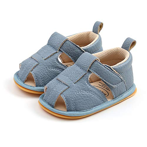 WangsCanis Sandalias de niño para bebé, unisex, informales, de paseo, zapatillas con suela de goma suave turquesa 12-18 meses