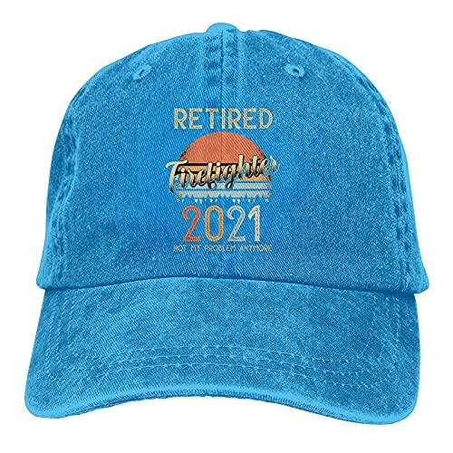 Gymini Retired 2021 Not My Problem Anymore Casquette de baseball en coton lavable pour adulte Bleu