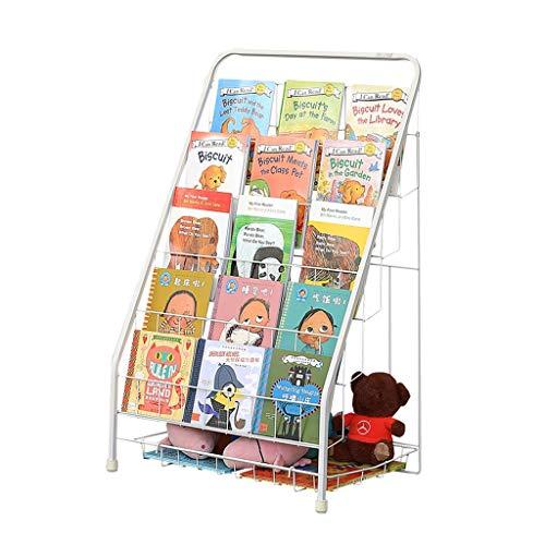 Bibliothèque Rangement de dossiers pour Enfants Porte-revues en Fer forgé Support de Rangement pour Plancher à 5 Couches Porte-Jouets Présentoir Pliable Portant 30kg Cadeau