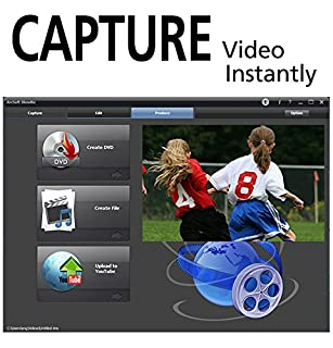عروض Diamond VC500 USB 2.0 One Touch VHS to DVD Video Capture Device with Easy to use Software, Convert, Edit and Save to Digital Files For Win7, Win8 and Win10