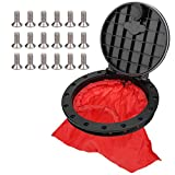 Kayak Hatch Cover,Deck Plate Kit Round Circular Type Lid Waterproof with Storage Bag for Kayaks Boat Fishing Rigging Black Accessories 8in, 6in(8 inch)