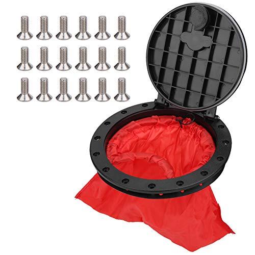Cubierta de escotilla de kayak de 6 pulgadas y 8 pulgadas, placa de cubierta de kayak, cubierta marina, placa de cubierta extraíble con bolsa de almacenamiento roja para kayak, barco(6 pulgadas)