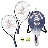 Wilson(ウイルソン) テニスラケット ベア ラケット2本 + ボール2個 セット 21インチ(幼児~小学低学年向け) ウィルソン