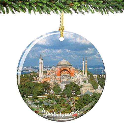 Istanbul Christmas Ornament of Turkey Made of Porcelain In USA