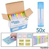 Lippenbalsam Behältertuben - 50-Pack (10x5 Farben) - DIY - 5,5ml - 50 beschreibbare (10x5 Farben) &...