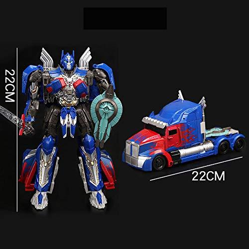 CHUSS Transformers 5 Black Mamba LKW Optimus Prime Action Figure Deformierbare Kollektion Animierte Figur Modell Statue Dekoration - Kinder Geschenke -22cm A
