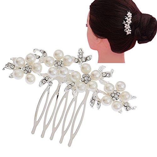 milopon Tête Bijoux Bijou de cheveux avec peigne pour Mariée Demoiselle d'honneur de mariage, robe de mariée accessoires de mariée épingles à cheveux Dance Accessoires