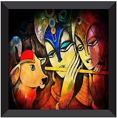 SAF UV Coated Radha Krishna Multieffect Digital Reprint Painting 12 inch X 12 inch SANF21038