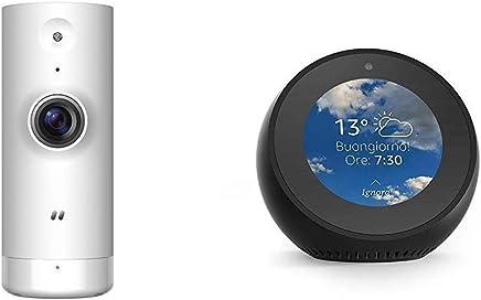 Echo Spot nero + D-Link DCS-8000LH Mini Telecamera HD, Wi-Fi, Visualizzazione Grandangolare 120°, Registrazione Cloud Gratuita, Funziona con Alexa - Trova i prezzi più bassi