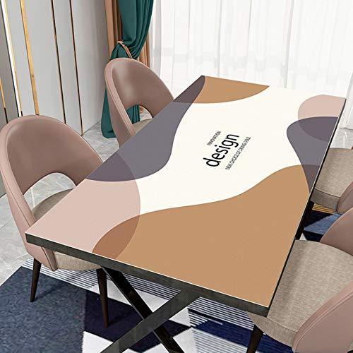 Manteles de PVC rectangular, a prueba de aceite a prueba de agua manteles a prueba de agua Limpie el mantel para la decoración de la cocina del hogar Varios tamaños ( Color : A , Size : 70*120CM )