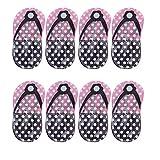 LIXBD Kit de manucure à pois - Ensemble de manucure - Motif tongs, chaussures à pois - Pour soins personnels - Coupe-ongles - Rangement en forme de tongs