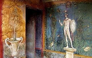 Home Comforts Antiquity Italy Pompeii Fresco Roman History Vivid Imagery Laminated Poster Print 24 x 36