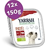Yarrah Bio-Hundefutter Pastete mit Rind und Huhn - 12 x 150 gr - Geeignet für Hunde Aller Rassen und Altersgruppen - Getreidefrei - Ohne Künstliche Zusatzstoffe, Pestizide oder GVO - Mit Spirulina