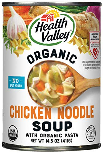 Health Valley Organic No Salt Added Soup, Chicken Noodle, 14.5 Ounce (Pack of 12)