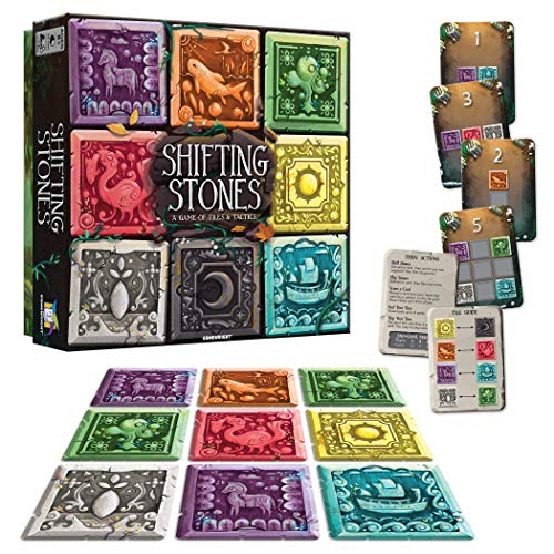 Gamewright Shifting Stones – A Visual, Decision-Making Family Strategy Game of Tiles, Cards, and Tactics for Ages 8 and up