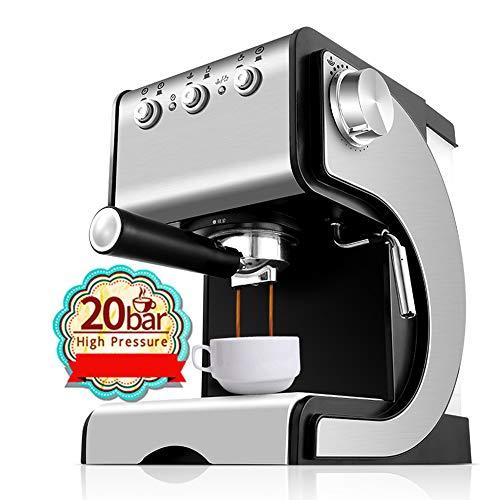 BTASS Professionelle Kaffeemaschine Für Espresso-Bezug, Cappuccino Und Kaffee Gebürstetes Edelstahl-Gehäuse 1.3 Liters