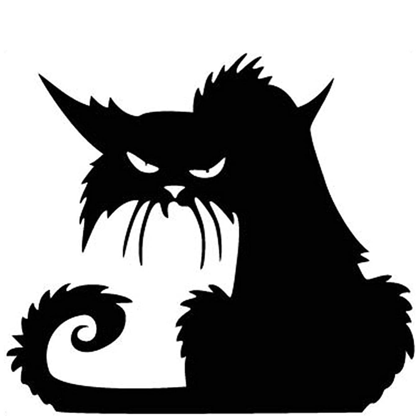 Fashionclubs Vinly Black Cat Removable Window Wall Sticker For Halloween Home Decoration,14.5*13.5cm
