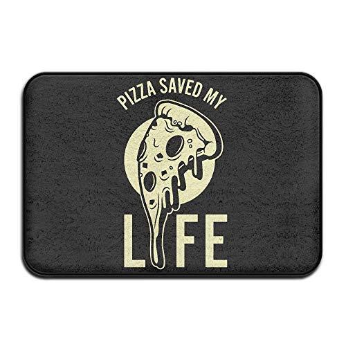 tyui7 Decoración Antideslizante Felpudo de Bienvenida 23.6 x 15.7 Pulgadas Alfombra al Aire Libre para Interiores Pizza Salvó el patrón de diseño de mi Vida para la Sala de Estar Blanco