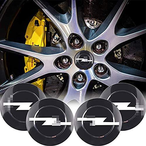 ZWH-box 4 STK. Hochwertige Mittelabdeckung der Radnabe der Autoabdeckung Nabenabdeckung Aufkleber Logo Logo Radverkleidung für Opel Zafira a b Astra h g j k f Mokka Corsa b c d Vectra Insign, 56 mm
