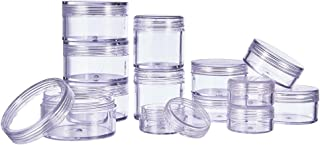 PH PandaHall Women's Elite About 40 Pcs 5 Gram Round Clear Empty Plastic Cosmetic Samples Container Pot Jars With Screw Li...