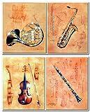Jazz Musikinstrument – Französisches Horn, Saxophon,
