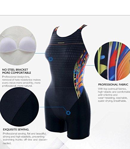 PHINIKISS PH10002 Mao Damen Sport Badeanzug Schwimmanzug mit Bein