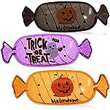 com-four® 3X Snackschale Halloween - Snack-Teller aus Kunststoff im Bonbon-Design - Party-Geschirr für Halloween und Motto-Party