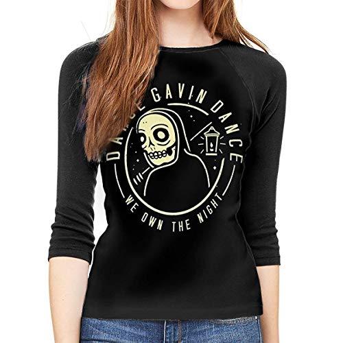Henrnt Dance Gavin Dance Shirt Teen Girl T-Shirt Raglan 3/4 Maniche Donna Round Neck T-Shirt Baseball Shirt