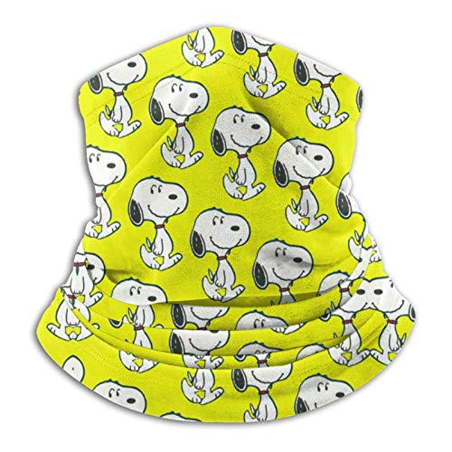 Snow Snoopy - Pasamontañas unisex multifuncionales a prueba de polvo, para deportes al aire libre, 25,4 x 27,6 cm