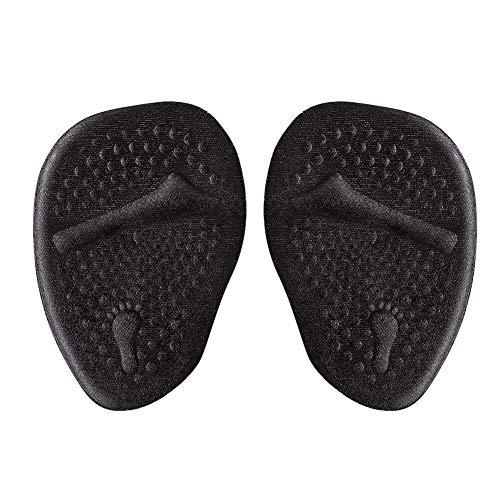 2 paires de coussinets de pied en daim noir coussin de pied antidérapant coussins à talons hauts inserts coussinets