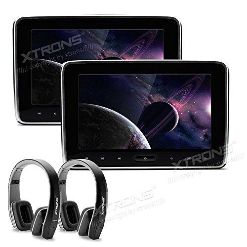Dunne, draagbare monitor met dvd-speler, touchscreen, HDMI en 10,1-inch scherm voor gebruik in auto's van Xtrons