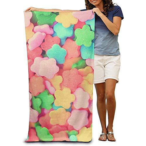 utong 100% Baumwolle Strandtücher 80x130cm Candy Sweet Beach Blanket Schnelltrocknendes Handtuch für Schwimmer