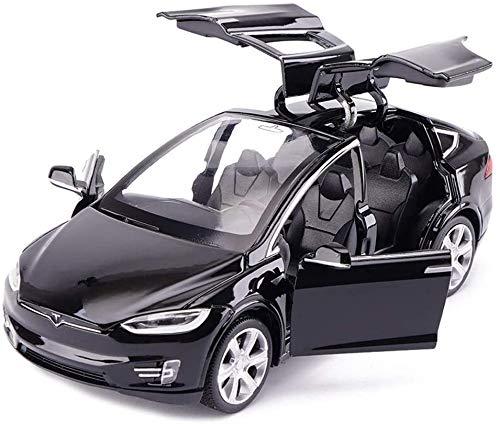 YLJJ Coches a Escala Modelo de Coche Tesla X del Camino SUV 1:32 analógico fundición a presión de aleación de Sonido y Tire de contraluz de Juguete Gran Regalo para el Regreso a la Escuela