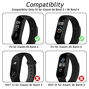 Wanme Correa Compatible con Xiaomi Mi Band 4 Xiaomi Mi Band 3 Pulsera, Silicona Reloj de Recambio Banda Coloridos Correa para Xiaomi Mi Smart Band 4/3