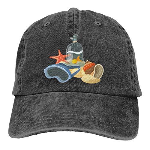 Gorra de béisbol ajustable de tela vaquera para hombre y mujer